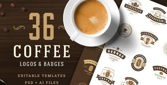 لوگو قهوه Coffee Logos and Badges