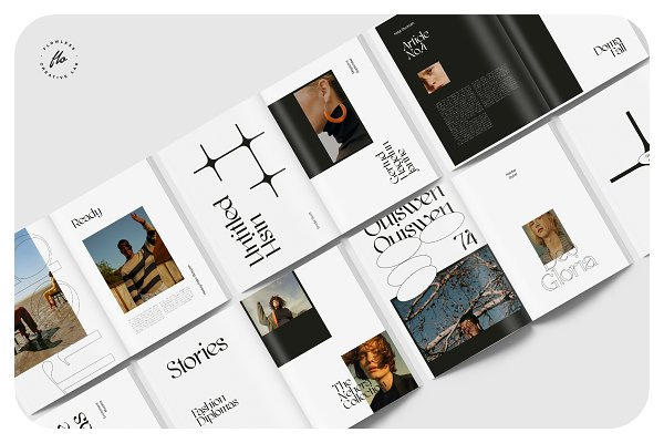 GLORIE Editorial Lookbook | Creative InDesign Templates